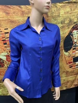 Koszula damska satynowa długi rękaw (36-44) NL1205