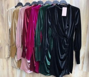 Sukienka damska z długim rękawem- włoska (Standard) KM14299