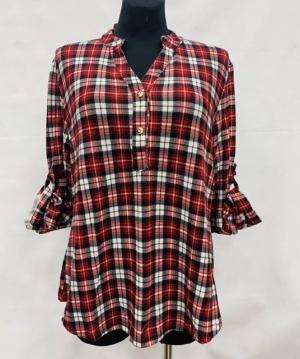 Koszula damska z długim rękawem (L-3XL) KM15654