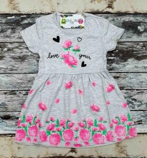 Sukienka dziewczęca krótki rękaw-Turecka (4-8 lat) NL3073