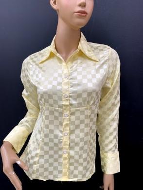 Koszula damska satynowa długi rękaw (36-44) NL1202