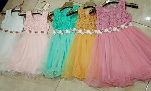 Sukienka dziewczęca bez rękaw (4-14) NL4937