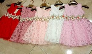 Sukienka dziewczęca bez rękaw (4-14) NL4935