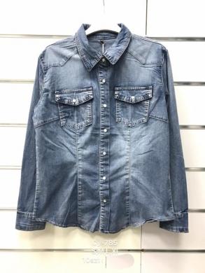 Koszule jeansowe damskie długi rękaw (S-XL)  NL1953