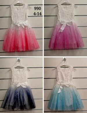 Sukienka dziewczęca bez rękaw (4-14) NL4931