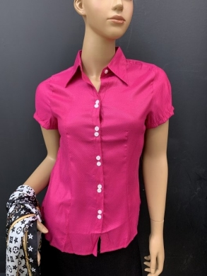Koszula damska satynowa  krótki rękaw ( 36-44 ) T06