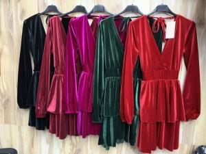 Sukienka damska z długim rękawem- włoska (Standard) KM14300