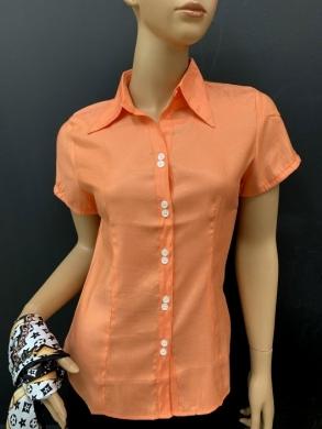Koszula damska satynowa  krótki rękaw ( 36-44 ) T02