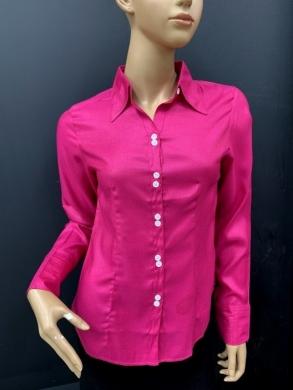Koszula damska satynowa długi rękaw (36-44) NL1196