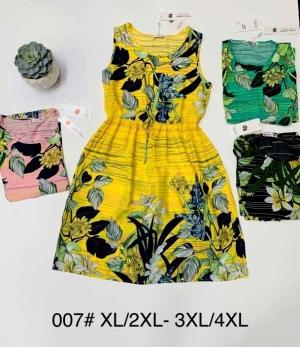 Sukienka damska bez rękaw (XL-4XL) NL4699