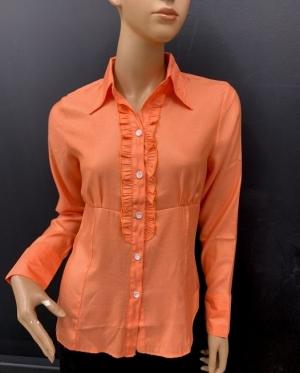 Koszula damska satynowa długi rękaw (36-44) NL1195