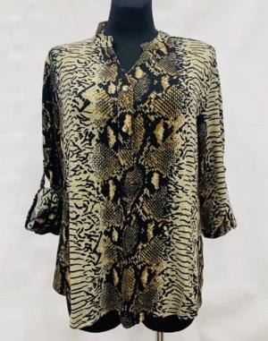 Koszula damska z długim rękawem (L-3XL) KM15655