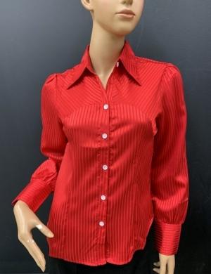 Koszula damska satynowa długi rękaw (36-44) NL1200