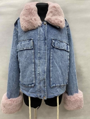 Kurtka jeansowa damska ocieplana (M-XL) KM11256