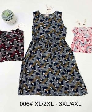 Sukienka damska bez rękaw (XL-4XL) NL4700