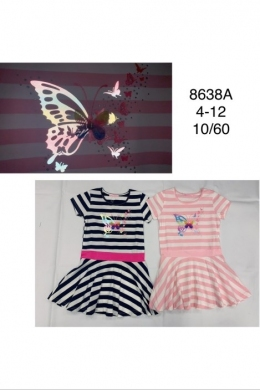 Sukienka dziewczęca krótki rękaw (4-12) TP537