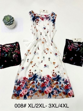 Sukienka damska bez rękaw (XL-4XL) NL4701
