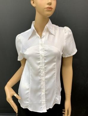 Koszula damska satynowa  krótki rękaw ( 36-44 ) T07