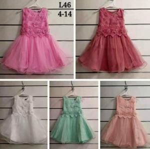 Sukienka dziewczęca bez rękaw (4-14) NL4939