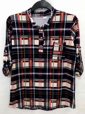 Koszula damska 3/4 rękaw - Polska (XL-3XL) NL4772