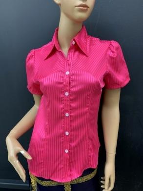 Koszula damska satynowa  krótki rękaw ( 36-44 ) T01