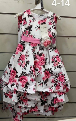 Sukienka dziewczęca bez rękaw (4-14) NL4934