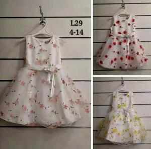 Sukienka dziewczęca bez rękaw (4-14) NL4940